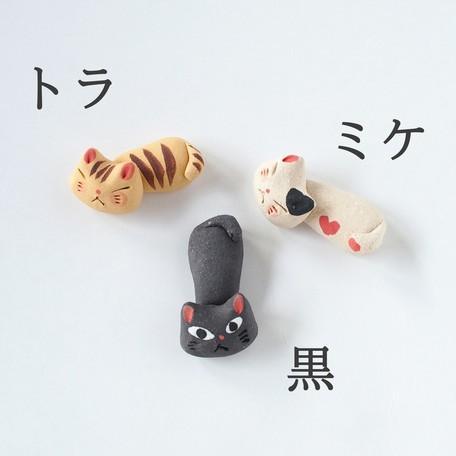 猫雑貨 キッチン 箸置き 猫 美濃焼手作り猫の箸置き nekote-shop 02