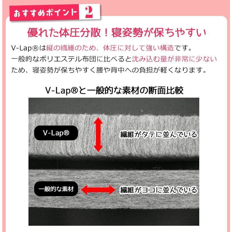 テイジン V-Lap 軽量 敷布団 シングル SFSL-0112 nemuriestore 04