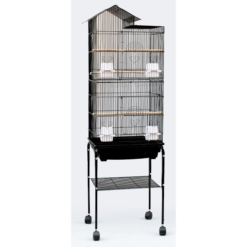 送料無料 専用スタンド付き 期間限定の激安セール 角屋根 大型鳥かご 鳥小屋 鳥カゴ バードゲージ 祝開店大放出セール開催中