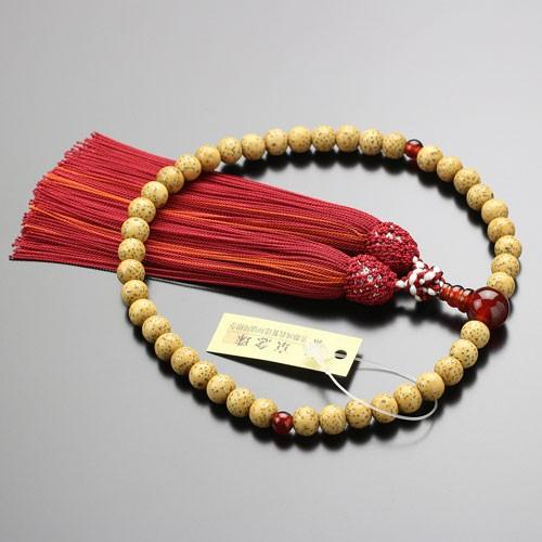 数珠 女性用 約6.5ミリ 星月菩提樹 瑪瑙 正絹頭付松風房 数珠袋付き|nenjyu|03
