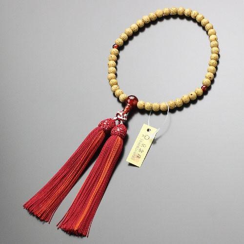 数珠 女性用 約6.5ミリ 星月菩提樹 瑪瑙 正絹頭付松風房 数珠袋付き|nenjyu|04