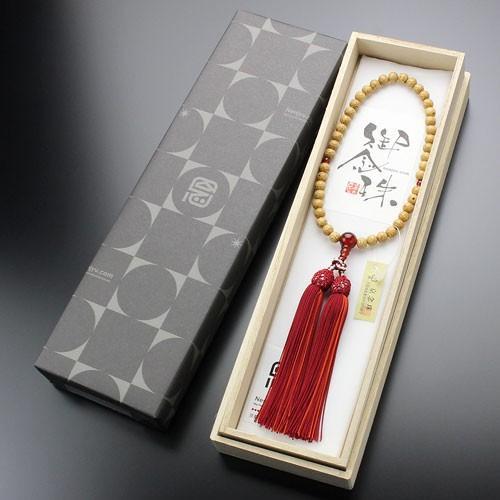 数珠 女性用 約6.5ミリ 星月菩提樹 瑪瑙 正絹頭付松風房 数珠袋付き|nenjyu|05