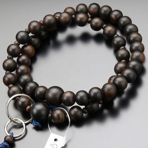 数珠 男性用 浄土宗 ランキング総合1位 縞黒檀 三万浄土 梵天房 艶消し 贈呈 並環