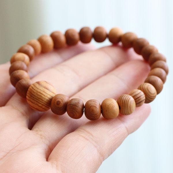 気質アップ 数珠ブレスレット 最安値 ≪在庫処分≫ 約7×8ミリ 屋久杉 腕輪念珠