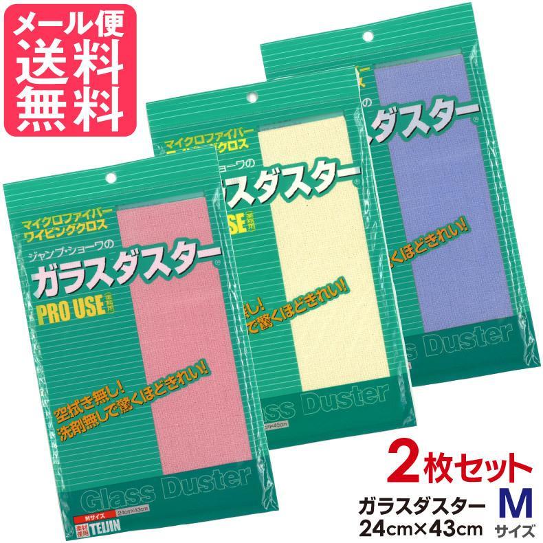 テイジン ガラスダスター 直輸入品激安 2枚セット Mサイズ メール便 格安 送料無料 帝人 3色