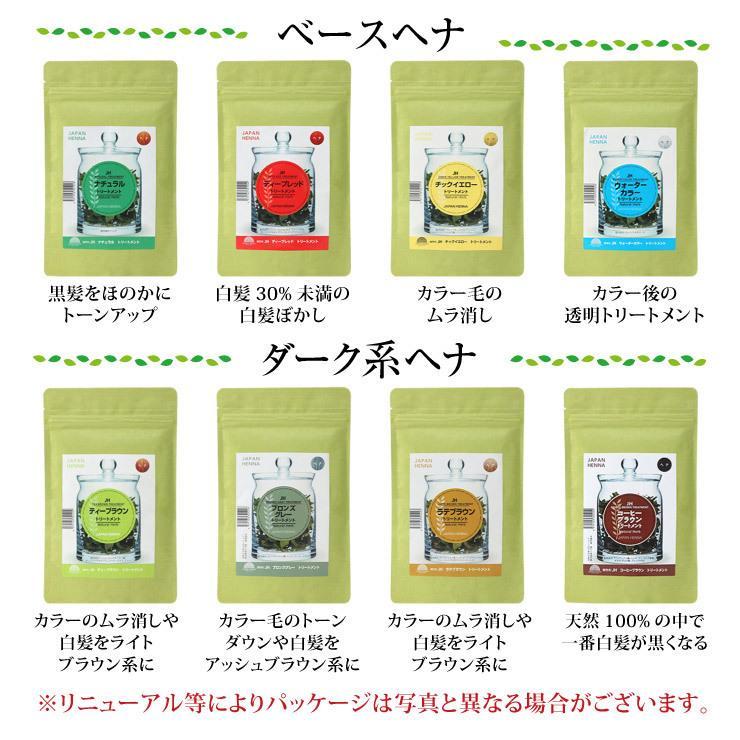 ジャパンヘナ 100g 8色 選べる2個 オーガニック カラー トリートメント メール便 送料無料|nenrin|02