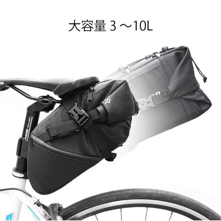 送料無料 サドルバッグ ロードバイク 大容量 3~10L クロスバイク ピストバイク 自転車|neo-nexus|02