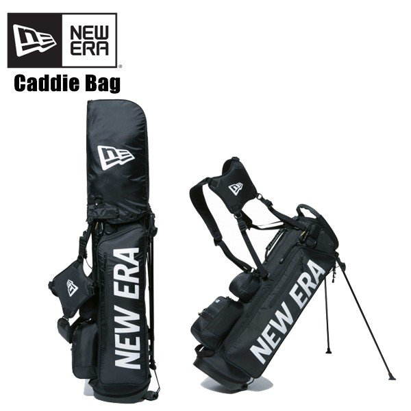 ニューエラ NEW ERA キャディーバッグ スタンド式 ベーシックポーチ付き Black ゴルフ/キャディーバッグ/[EE]