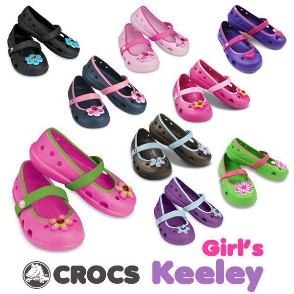 チープ CROCS Girls Keeley クロックス 子供用サンダル ガールズキーリーフラットシューズ 超人気 専門店 AA