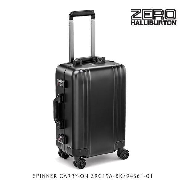 ゼロハリバートン ZERO HALLIBURTON クラシック アルミニウム SPINNER CARRY-ON ZRC19A-BK/94361-01 /キャリーケース/スーツケース/[GG]