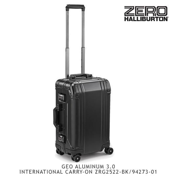 ゼロハリバートン ZERO HALLIBURTON ジオ アルミニウム 3.0 INTERNATIONAL CARRY-ON ZRG2522-BK/94273-01 /キャリーケース/スーツケース/[GG]