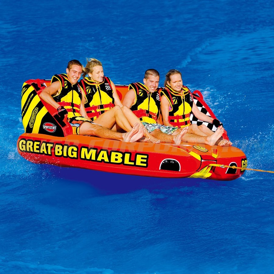 トーイングチューブ グレートビッグマーブル 4人乗り バナナボート SPORTS STUFF/スポーツスタッフ