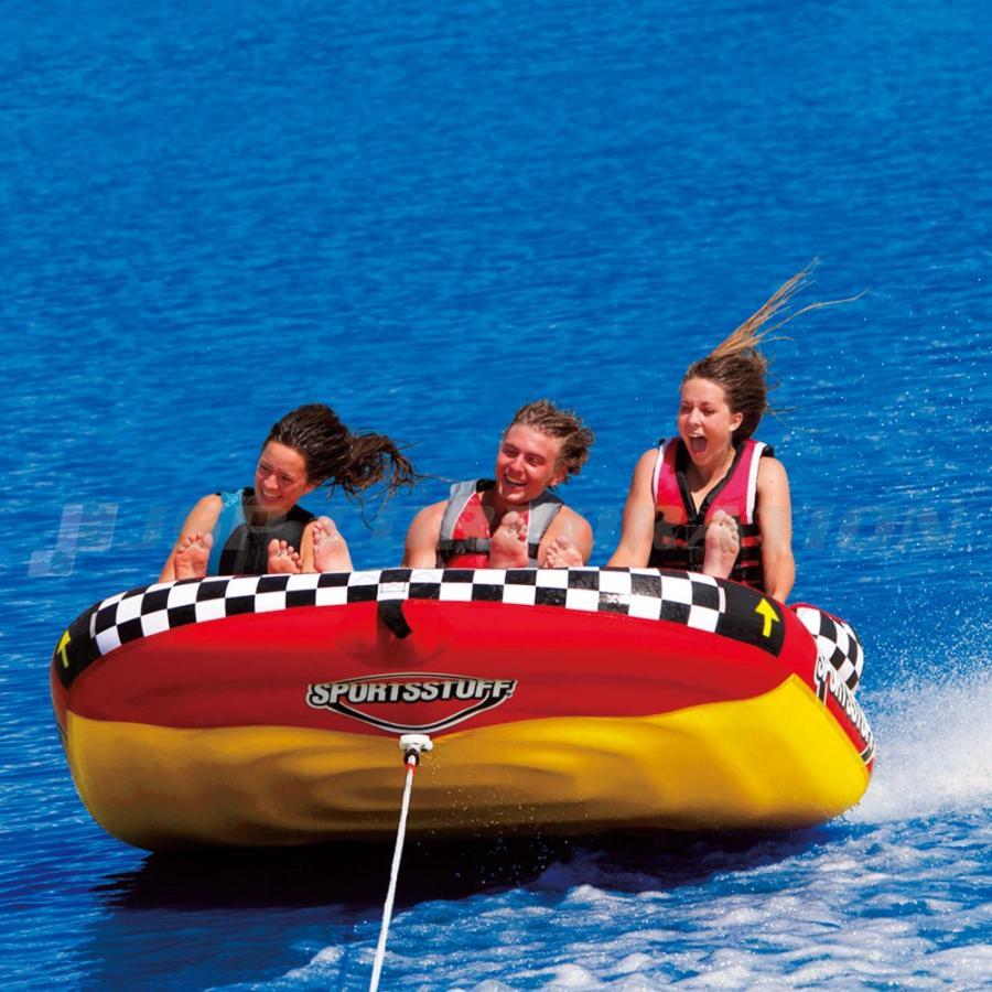 トーイングチューブ 3人乗 バナナボート / SPORTSSTUFF:ポパスーパーウィリー POPA SUPER WHEELIE