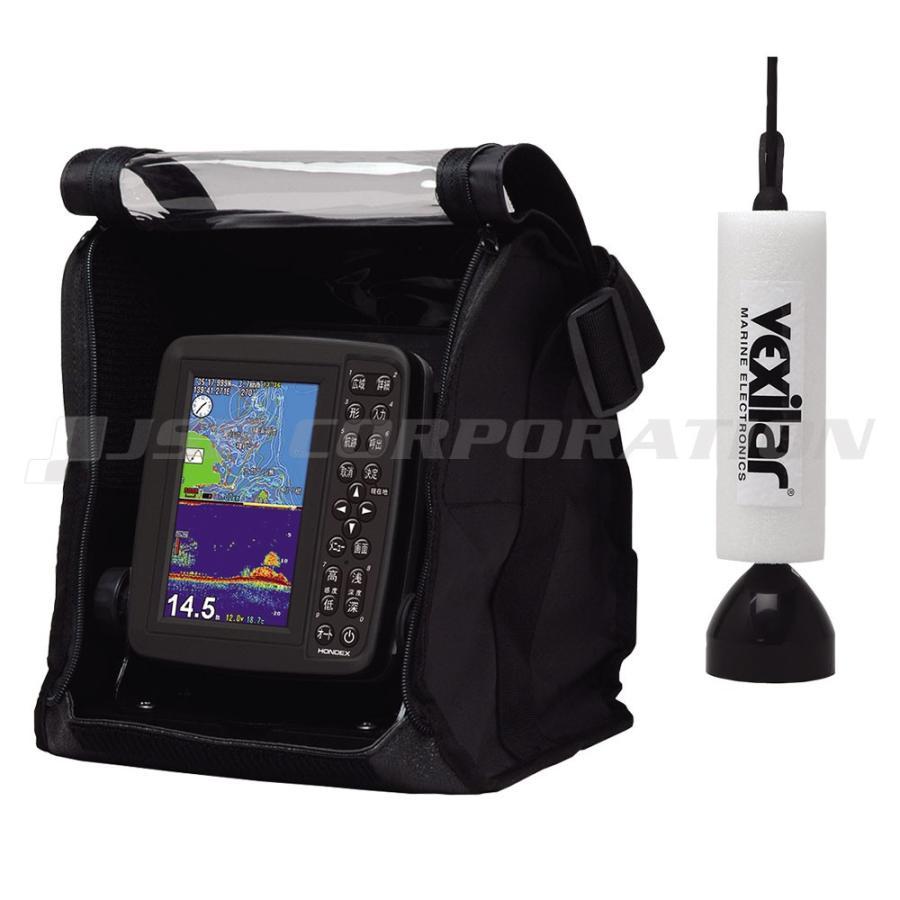 5型ワイドカラー液晶 GPSプロッター魚探 PS-611CN ワカサギパック バリューセット GPSアンテナ内蔵