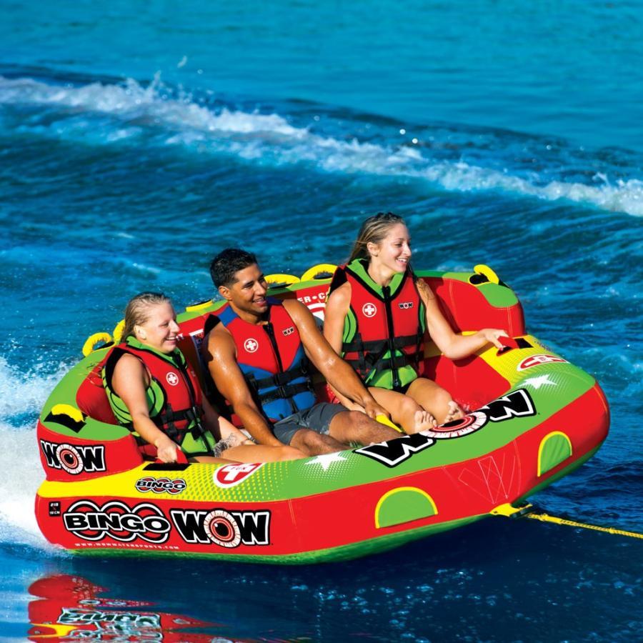 トーイングチューブ WOW/ワオ 3人乗り ビンゴ 3 バナナボート