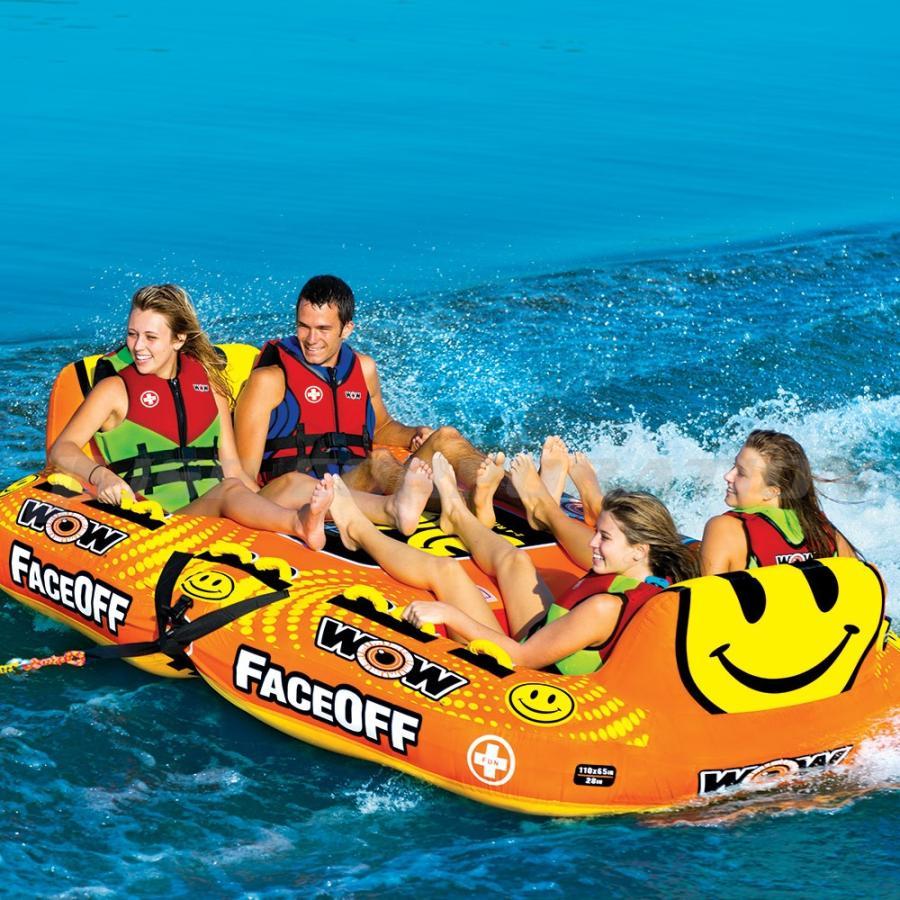品質満点! トーイングチューブ WOW/ワオ 4人乗り フェイスオフ バナナボート, キクチグン 2562b00f