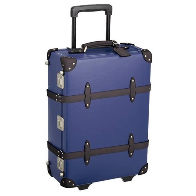 日本製 キャリーバッグ スーツケース カート トランク 国内線機内持込 静音 32L 3.6kg 55cm ※メーカー直送 カード決済のみ)ネイビー
