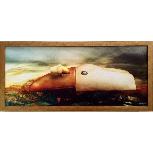 額縁付き 絵画 ネルバ作「おかえり。どこに行ってたの?」316-273 ジクレー版画