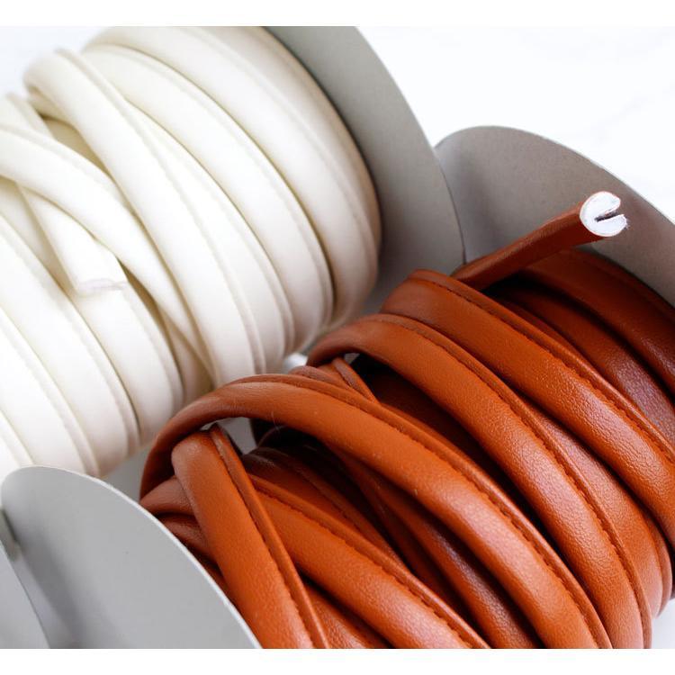 ( 持ち手 ) スムースストレッチレザー 四ツ折ループ 10mm(5color)【 バッグ 持ち手 カバンテープ かばんテープ 】【 商用利用可 】|nesshome|06