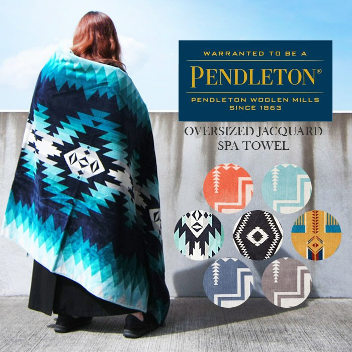 ペンドルトン PENDLETON XB233 ジャガード スパタオル OVERSIZED JACQUARD SPA TOWEL ネイティブ柄 ブランケット Blanket[ZRC]