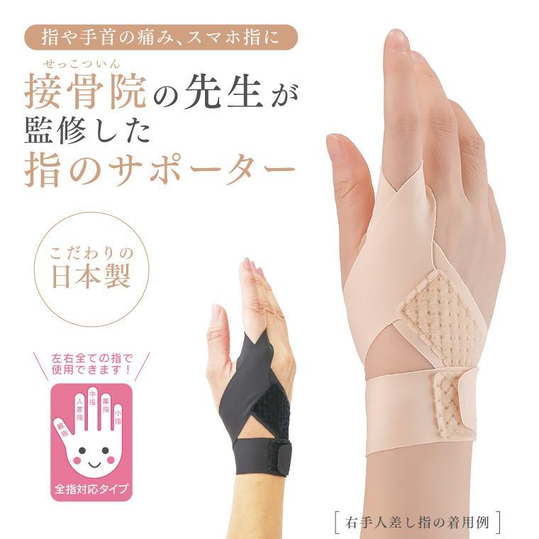 接骨院の先生が監修した指のサポーター 指サポーター 左右兼用 全指対応 全指適応 マジックテープ 薄手 フィット 固定 腱鞘炎 関節炎 関節痛 ばね指 スマホ指