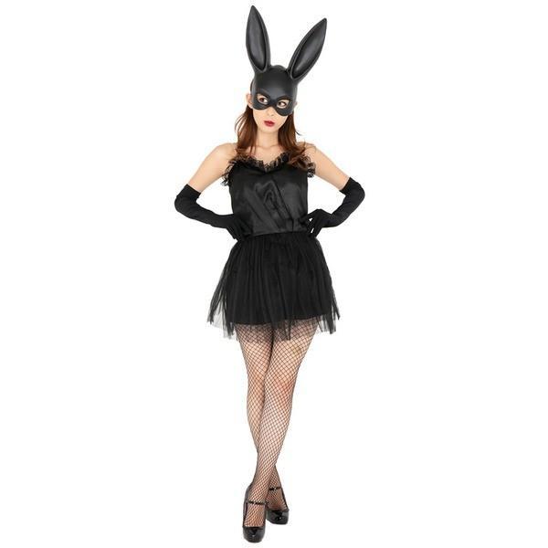 コスプレ衣装/コスチューム 〔黒 bunny(ブラックバニー)〕 『CLUB QUEEN』 レディース 〔ハロウィン イベント〕