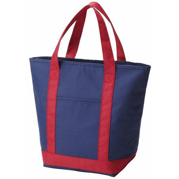 (まとめ)保冷バッグ 保冷トートバッグ ネイビー (エコバッグ トートバッグ お買い物バッグ) 〔50個セット〕