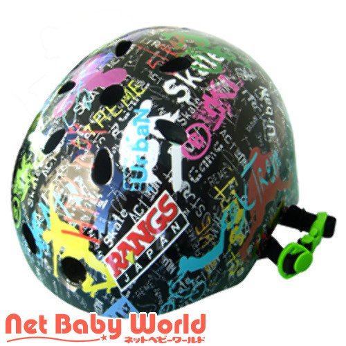 365日★代引・送料無料★ ラングス アクティブ スポーツヘルメット (ブラック) ラングスジャパン RANGS JAPAN ヘルメット スクーター スケボー キ