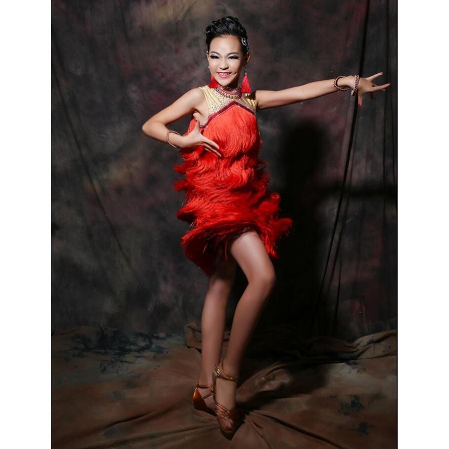 社交ダンスドレス  ラテンドレス モダンドレス ロングスカート 豪華 チャチャダ ンスドレス ダンスウエア 競技 デモ ダンス衣装 ワンピース L2003