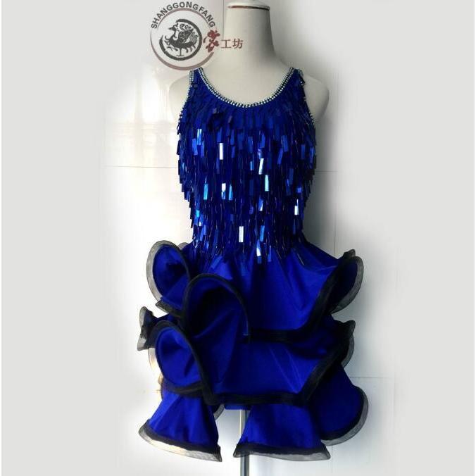 【高品質】社交ダンスドレス  ラテンドレス モダンドレス ロングスカート ダンスウエア 競技 デモ ダンス衣装 ワンピース オーダーメード