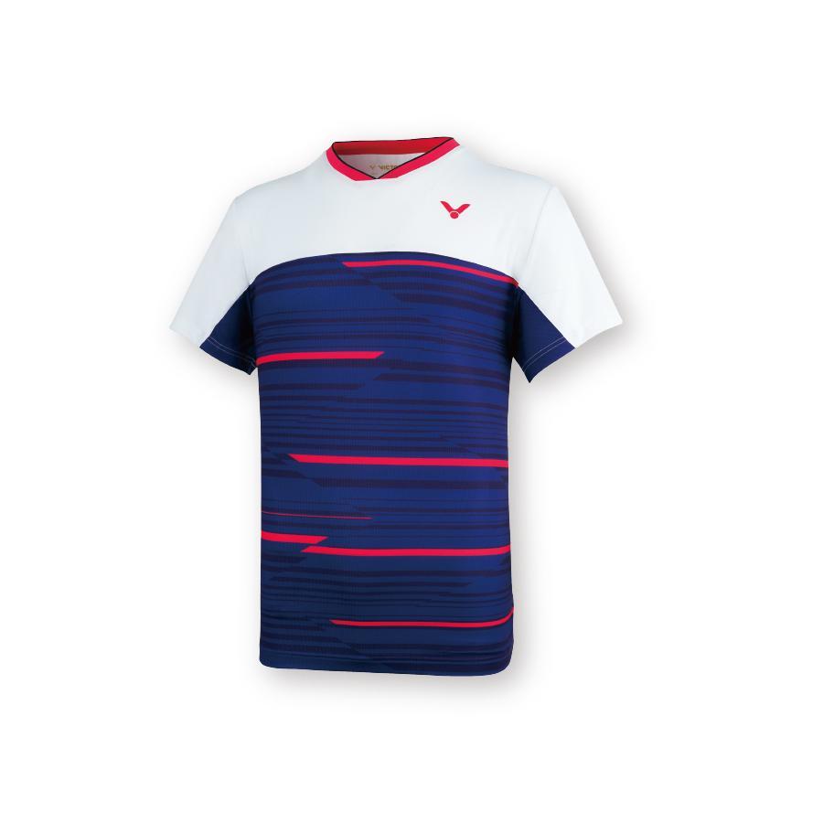 VICTOR T-05001 B/ネイビー ビクター ゲームシャツ UNI 日本バドミントン協会公認|netintm|02