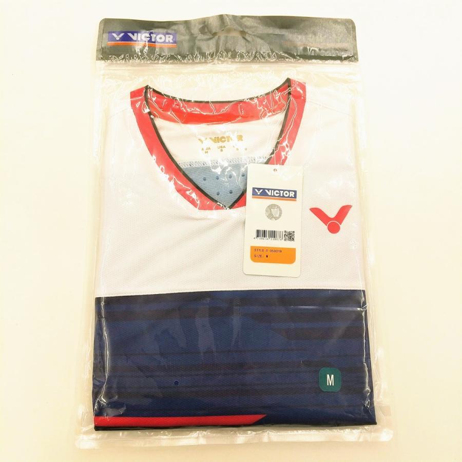 VICTOR T-05001 B/ネイビー ビクター ゲームシャツ UNI 日本バドミントン協会公認|netintm|03