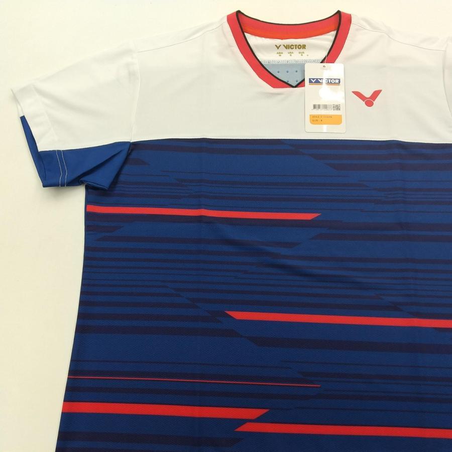 VICTOR T-05001 B/ネイビー ビクター ゲームシャツ UNI 日本バドミントン協会公認|netintm|04