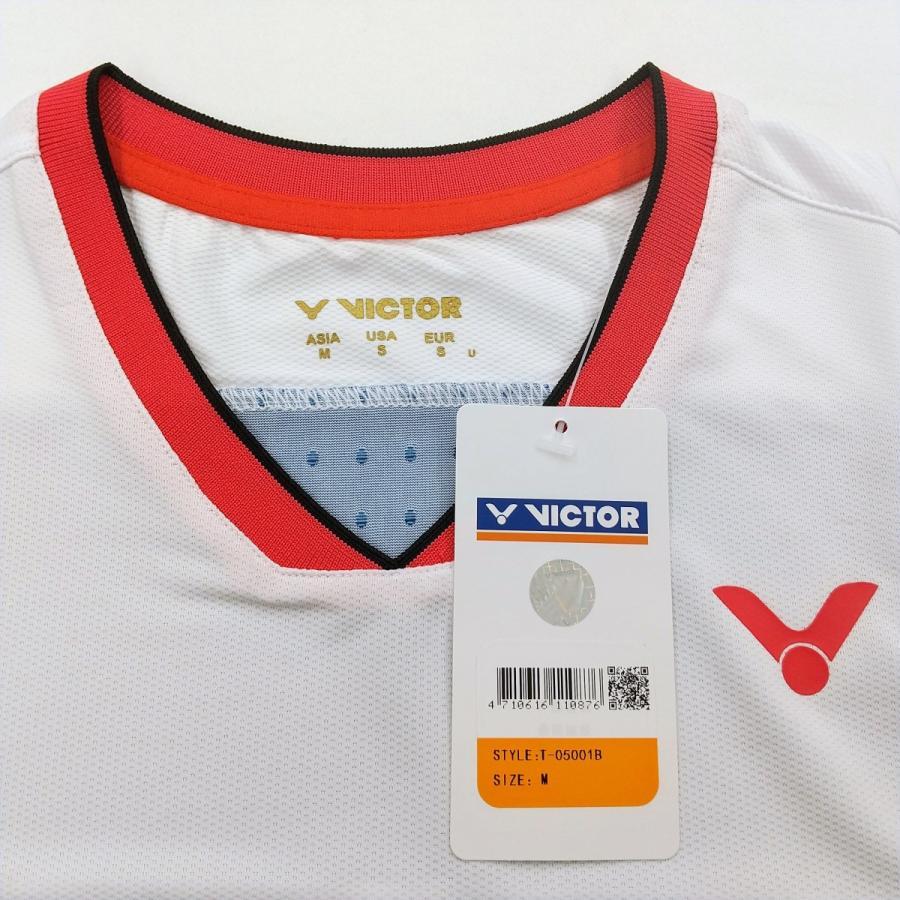 VICTOR T-05001 B/ネイビー ビクター ゲームシャツ UNI 日本バドミントン協会公認|netintm|05