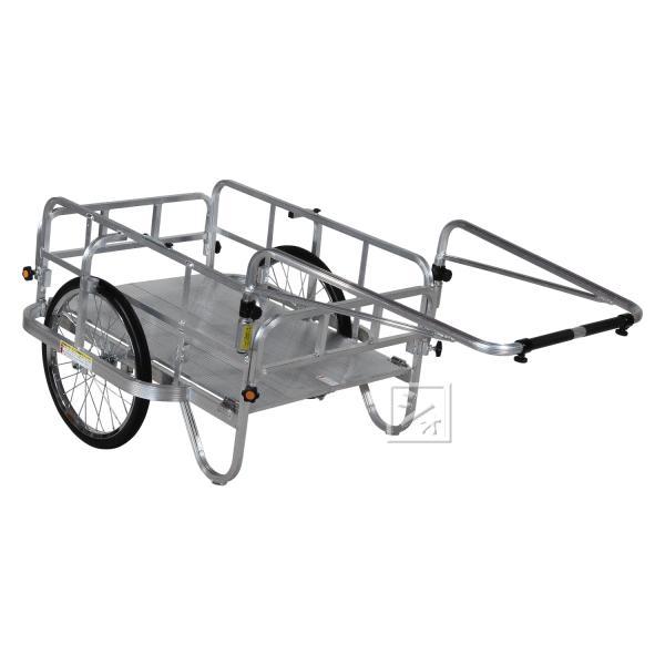 (法人配送限定) ハラックス コンパック HC-906N アルミ製 折り畳み式リヤカー ノーパンクタイヤ