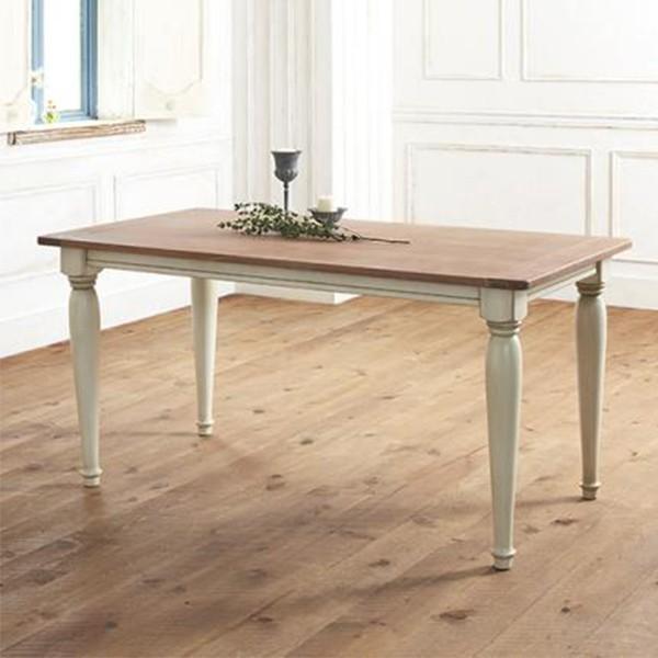 ダイニングテーブル 4人用 おしゃれ シャビーテイスト cynar チナール 150×80 アンティーク 040601026 特価