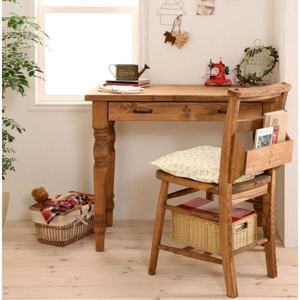 カントリー家具 デスク チェア セット 天然木 天然木 Chelsey*Mom チェルシー・マム デスクセット 事務机 勉強机 2点セット