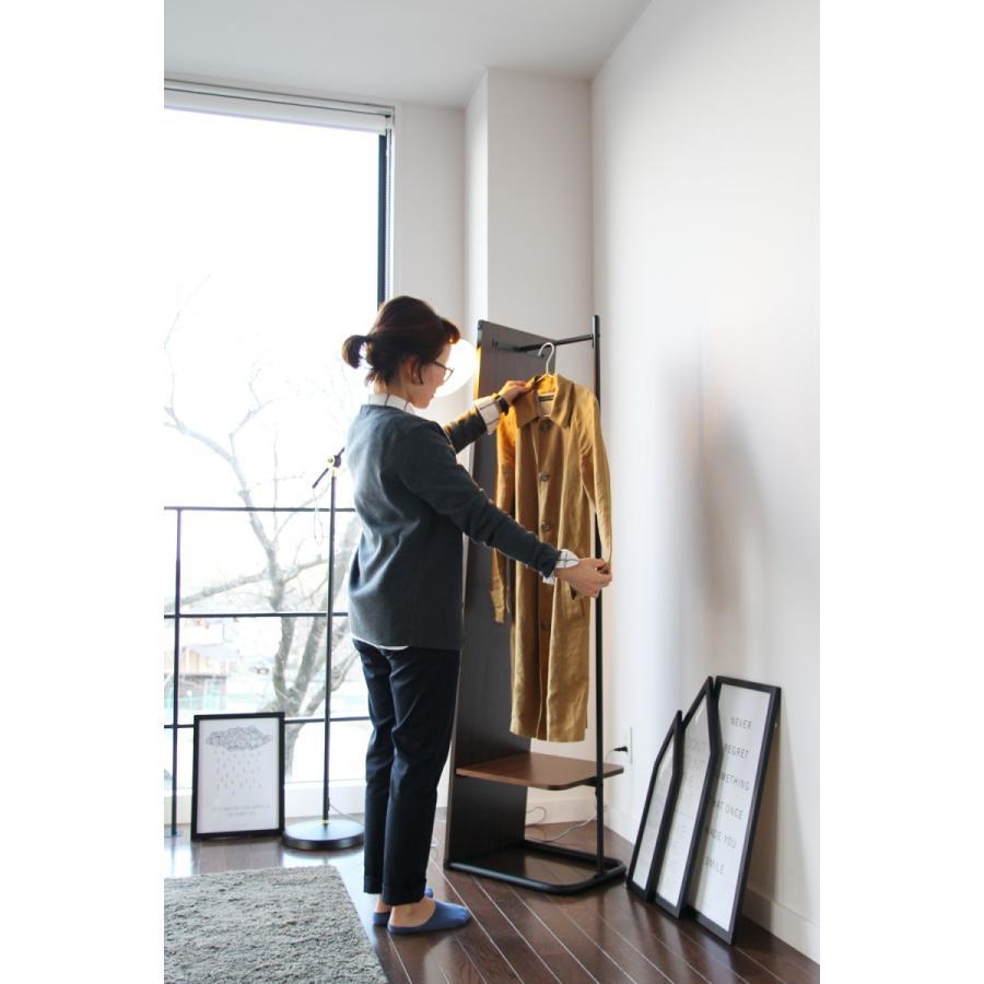 スタンドミラー 全身 収納 ハンガーラック付き anthem アンセム ミラーハンガー 姿見 鏡 全身鏡|netshop-edgyy|04
