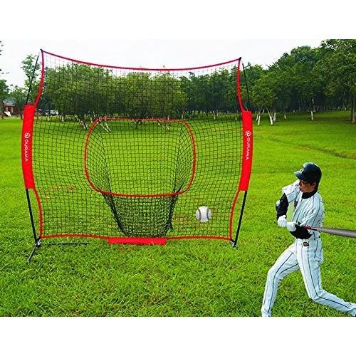 Cyfie 野球ネット 防球ネット 練習器具 打撃 投球 ボール受けネット 集球袋付き トレーニング 組立簡単 軟球 硬