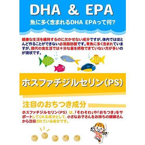 こども DHA&α-GPC DHA EPA α-GPC ホスファチジルセリン 配合 【集中・学習特化型サプリメント】 60粒約30日分|netshop-kadoyoriya|05