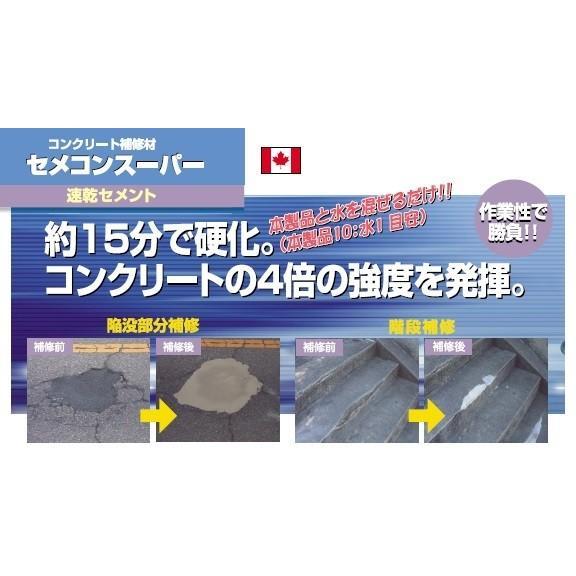 コンクリート補修材 セメコンスーパー 速乾セメント 15分で硬化 コンクリートの4倍強度 20kg入り