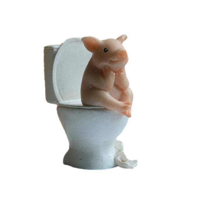 置物 期間限定で特別価格 つぶらな瞳の子ブタさん 日常生活 直営店 トイレ