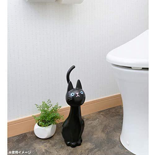 明邦 トイレブラシ おしゃれ 黒 猫のしっぽ (ケース付き)|neverminds|04