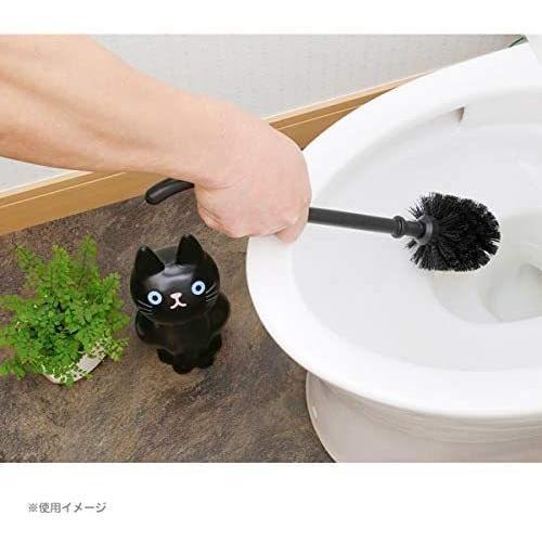 明邦 トイレブラシ おしゃれ 黒 猫のしっぽ (ケース付き)|neverminds|05