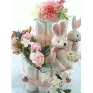 特価 出産祝い 人気の製品 おむつケーキ 双子ちゃん用 御買い得 おしゃれで人気