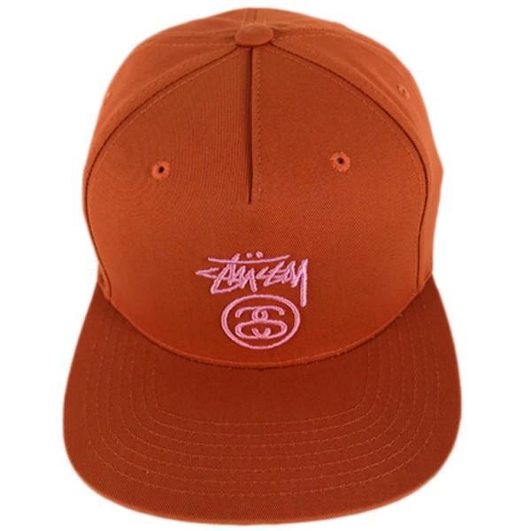 ステューシー スナップバック キャップ stock lock su18 オレンジ ピンクロゴ stussy●sbc822 neweditionhiphop 02