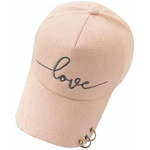(Magno) レディース ロゴ キャップ 帽子 カジュアル シンプル (13 ピンク Free Size)|newlandjapan