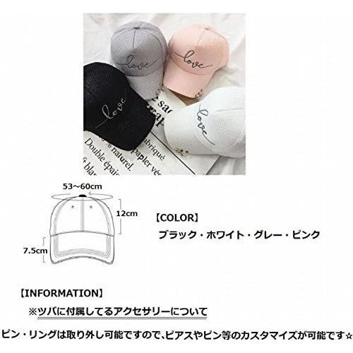 (Magno) レディース ロゴ キャップ 帽子 カジュアル シンプル (13 ピンク Free Size)|newlandjapan|06