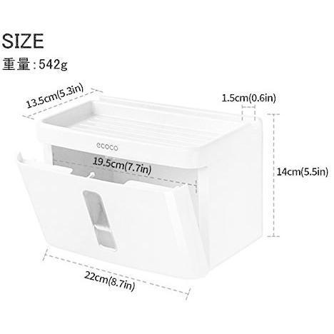 トイレットペーパー ホルダー 収納ケース ティッシュケース 強力吸盤 取付簡単 ネジなし 穴あけ不要 (ホワイト Big)|newlandjapan|04