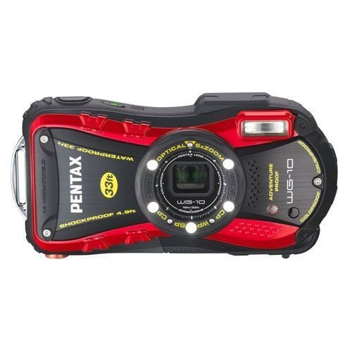 PENTAX 防水デジタルカメラ WG-10 レッド マクロスタンド付属 WG-10RD 1265 新作からSALEアイテム等お得な商品 満載 1cmマクロ 在庫一掃売り切りセール